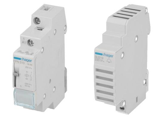 Commande & Contrôle modulaire Hager : Télérupteur, contacteur, minuterie...