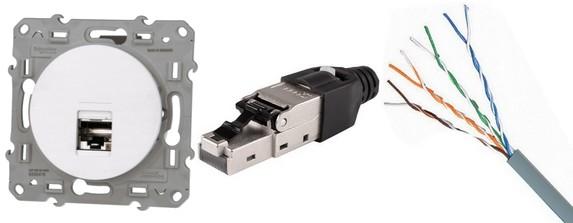 Installation réseau : Cable et prise ethernet / RJ45