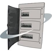 Tableau électrique encastrable placo avec disjoncteur