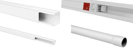 Protège câble électrique : Goulotte, plinthe, moulure ...