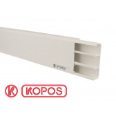 Plinthe électrique PVC blanche 80 x 25 mm