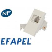 Prise RJ11 (pour téléphone) demi module Efapel 45x45