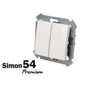 Interrupteur va-et-vient double Simon Premium