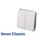 Interrupteur va-et-vient double Simon Classic