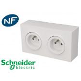 Prise en saillie double 2P+T Schneider Odace