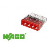 100 bornes WAGO ultracompacte 4 entrées (rouge)