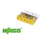 100 bornes WAGO ultracompacte 5 entrées (jaune)