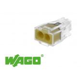 100 connecteurs WAGO 2 entrées (jaune)