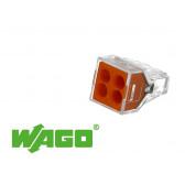 100 connecteurs WAGO 4 entrées (orange)
