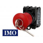 Arrêt d'urgence complet à accrochage avec clé Ø22mm, 1NO+1NC