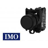 Bouton interrupteur noir complet Ø22mm, 1NO