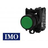 Bouton interrupteur vert complet Ø22mm, 1NO