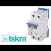 Disjoncteur bipolaire modulaire 20A courbe C Iskra