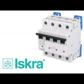 Disjoncteur tetrapolaire modulaire 40A courbe D Iskra