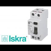 Interrupteur différentiel 2P monophasé  Iskra
