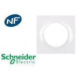 Plaque de finition blanche simple Schneider Odace Styl