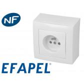 Prise électrique blanche Efapel Logus 90