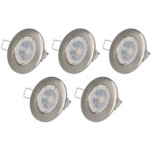 Lot de 5 spot LED GU10 argent 4.5W 4000K