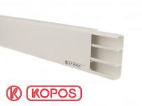 Plinthe électrique 80x25 en PVC blanc