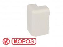 Angle extérieur pour plinthe PVC blanche 80 x 25 mm