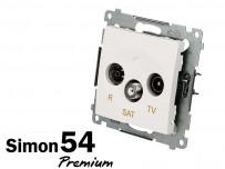 Prise TV + FM + SAT Simon Premium
