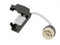 Douille GU10 céramique avec connectique automatique P+N double