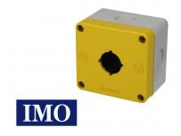 Boîtier une position jaune pour boutonnerie Ø22mm