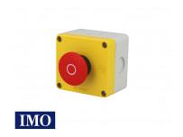 Boitier avec arrêt d'urgence complet à accrochage Ø22mm, 1NO+1NC IMO
