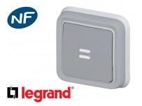 Poussoir lumineux Legrand Plexo™ gris encastrée