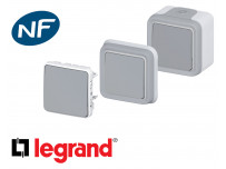 Poussoir simple Legrand Plexo™ gris