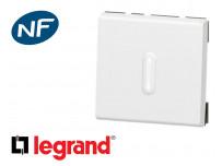 Poussoir lumineux 2 modules Legrand Mosaic composable
