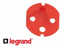 Détrompeur pour prise de courant 16A rouge Legrand Mosaic composable