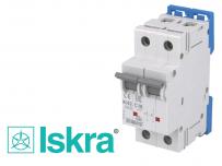 Disjoncteur bipolaire modulaire 16A courbe C Iskra