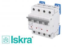 Disjoncteur tetrapolaire modulaire 10kA courbe D Iskra