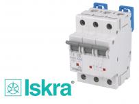 Disjoncteur tripolaire modulaire 10kA courbe C Iskra