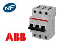 Disjoncteur tripolaire modulaire 6kA courbe C ABB