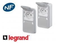 Prise de courant double et triple 16A 2P+T Legrand Plexo™