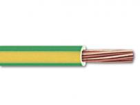 """Fil H07VR """"vert-jaune"""" forte section à la coupe"""