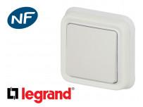 Interrupteur va-et-vient simple Legrand Plexo™ blanc encastrée