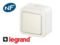 Interrupteur va-et-vient simple Legrand Plexo™ blanc complet