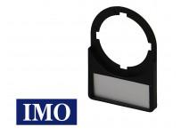 Porte étiquette + étiquette pour boutonnerie Ø22mm