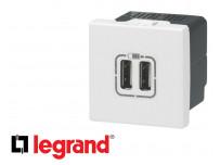 Prise double USB Efapel Quadro 45