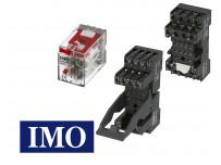 Relais électrique miniature embrochable 4 pôles IMO