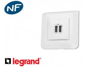 Alimentation USB double Legrand Mosaic™ complet