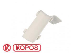 Angle intérieur pour plinthe PVC blanche 80 x 25 mm