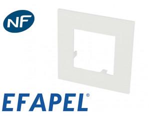 Plaque de finition blanche simple Efapel 45x45