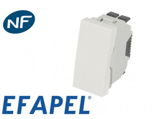 Poussoir simple demi module Efapel 45x45