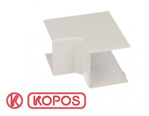 Angle intérieur pour goulotte PVC blanc 40 x 40 mm KOPOS
