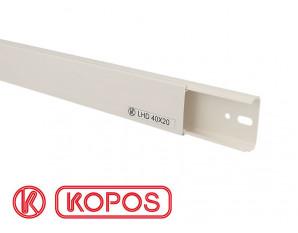 Goulotte électrique PVC 40 x 20 mm KOPOS