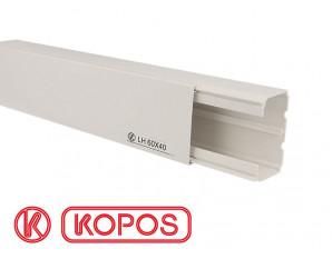 Goulotte électrique PVC 60 x 40 mm